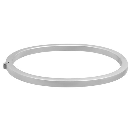 Bucherer 18k White Gold Bangle Bracelet // Inner Circumference: 7""