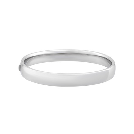 Bucherer 18k White Gold Bangle Bracelet // Inner Circumference: 6.75""