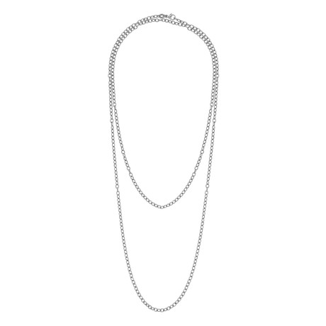 Bucherer 18k White Gold Anchor Long Neck Chain