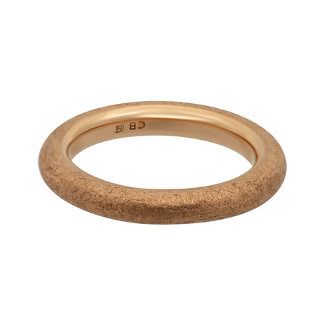 Bucherer 18k Rose Gold Wedding Band Ring // Ring Size: 7.25