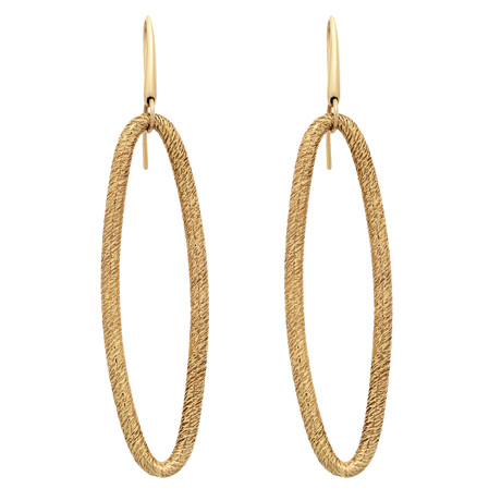 Bucherer 18k Yellow Gold Drop Earrings