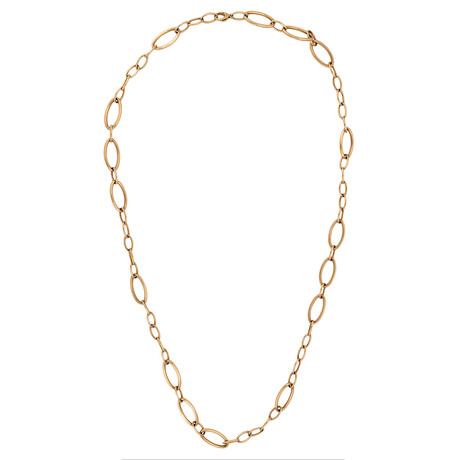 Bucherer 18k Rose Gold Long Neck Chain