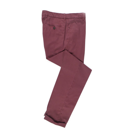 Cotton Casual Pants // Mahogany Red (44)