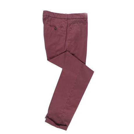 Cotton Casual Pants // Mahogany Red (Euro: 50)