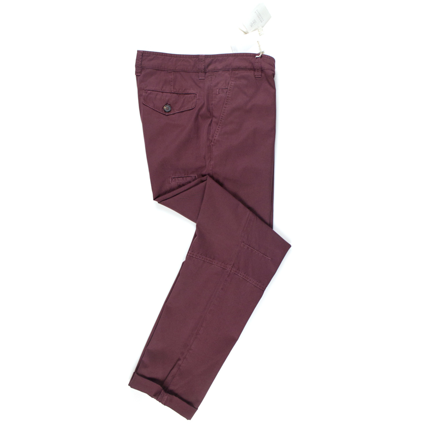 Brunello Cucinelli Mens Burgundy Cotton Pants 54 38
