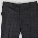 Plaid Wool Blend Dress Pants // Gray (44)