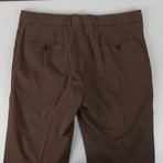 Cotton Casual Pants // Brown (44)