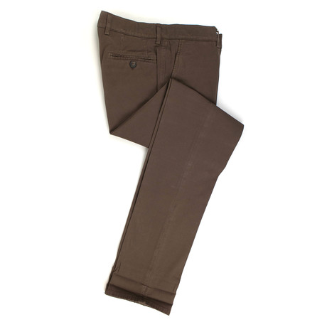 Brunello Cucinelli // Cotton Blend Casual Pants // Brown (Euro: 50)