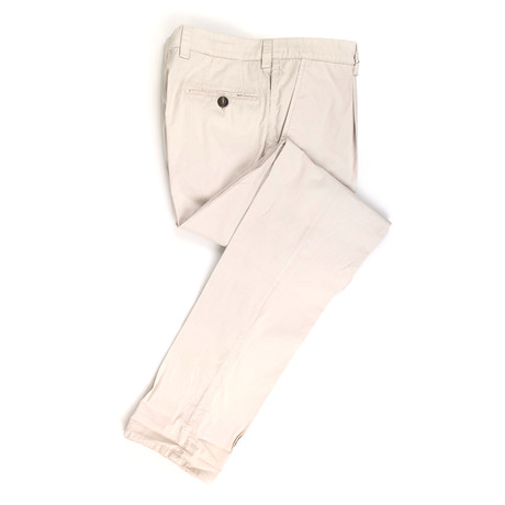 Cotton Pleated Casual Pants // Beige (44)