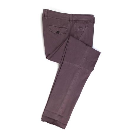 Cotton Blend Casual Pants // Purple (Euro: 50)