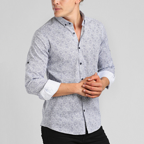 Maldives Button Down Shirt // White (M)