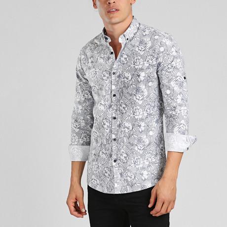 Fiji Button Down Shirt // Gray (2XL)