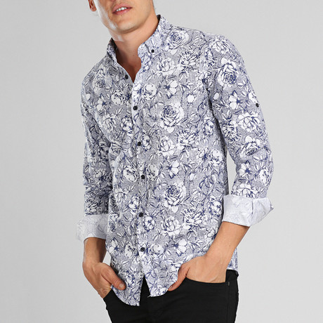 Oahu Button Down Shirt // Blue (XL)