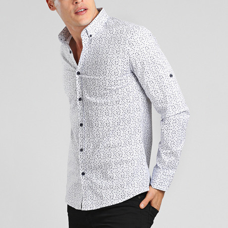 Puerto Rico Button Down Shirt // White (M)