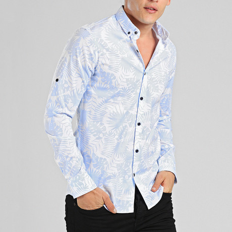Galapagos Button Down Shirt // Blue (L)