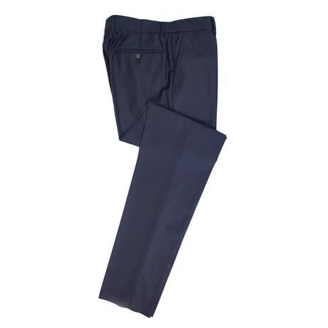 Brunello Cucinelli // Twill Wool Dress Pants // Navy Blue (Euro: 50)