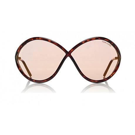Tom Ford // Liora Acetate Sunglasses // Dark Havana + Pink