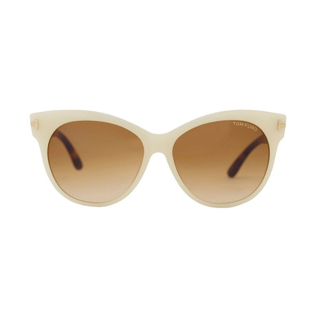 Women's Saskia Acetate Sunglasses // Ivory Brown + Brown Gradient