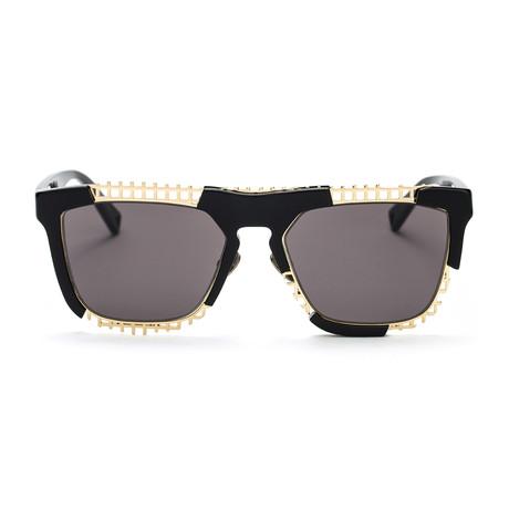 Coz Sunglasses // Black + Solid Smoke