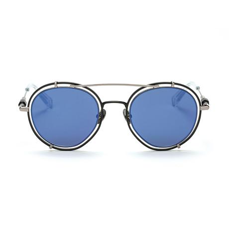 Pyn Sunglasses // Black + Navy Mirror
