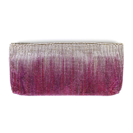 Women's Ombre Crystal Maykimay Clutch Purse // Purple