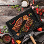 Double-Sided Non-Stick Grill + Griddle Pan