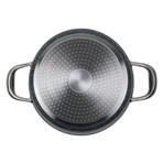 """Non-Stick Cast Aluminum Sauce Pan + Glass Lid (7"""")"""