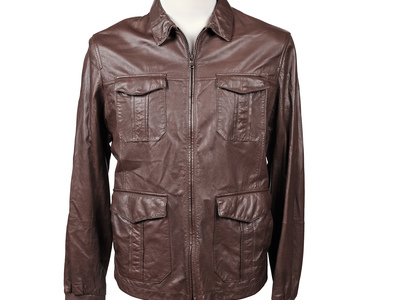 Photo of Brunello Cucinelli Designer Leather Jackets & Vests Elrond Leather Jacket // Brown (M) by Touch Of Modern