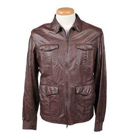 Elrond Leather Jacket // Brown (XS)