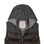 Varda Hooded Vest // Brown (XS)