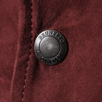 Elendil Suede Jacket // Burgundy (XS)