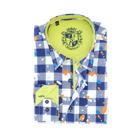 Brayden Digital Print Shirt Button-Up // Navy (S)