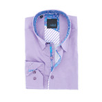 Elijah Digital Print Shirt Button-Up Shirt // Lilac (3XL)