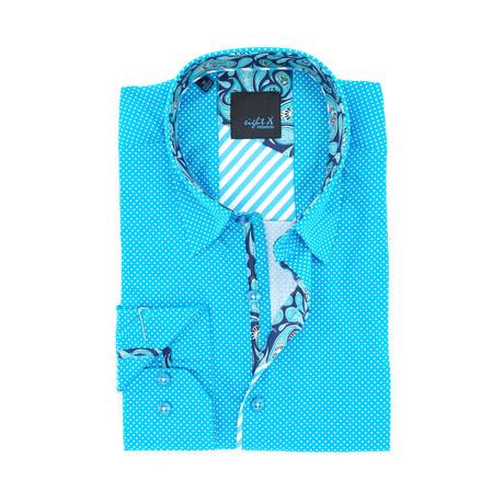Julian Digital Print Shirt Button-Up // Turquoise (S)