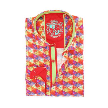 Noah Digital Print Shirt Button-Up // Red (S)