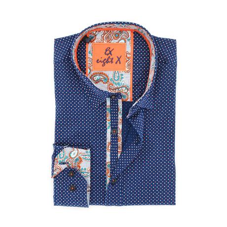 Mason Digital Print Shirt Button-Up // Navy (S)