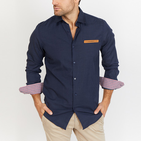 Ethan Button Up // Navy (S)