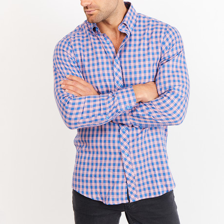 John Gingham Button Up // Blue (XL)