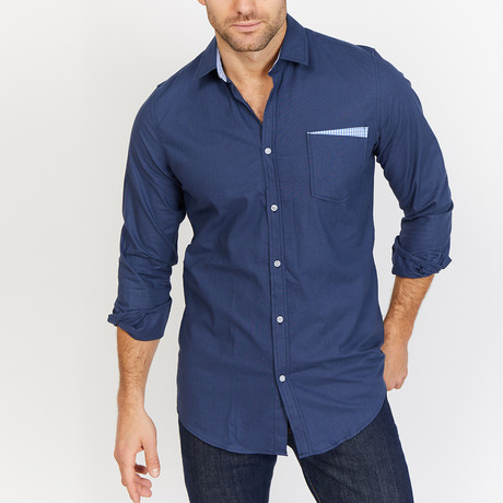 Blanc // Royal Button Up // Royal Blue (2X-Large)