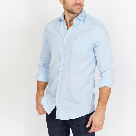 Blanc // Button Up // Light Blue (Small)