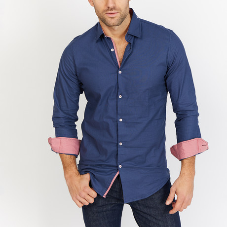 Horton Slate Button Down // Slate Blue (L)