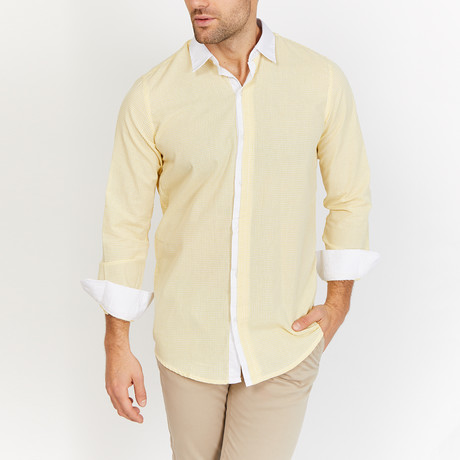 Blanc // Yellow Button Down // Yellow (Small)