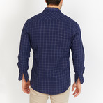 Blanc // Check Button Up // Navy (X-Large)