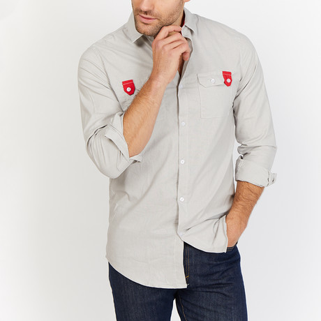 Blanc // Button Up // Light Gray (Small)