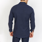 Blanc // Button Up // Navy (X-Large)