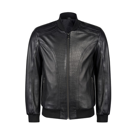Walter Leather Jacket Regular Fit // Black (XS)