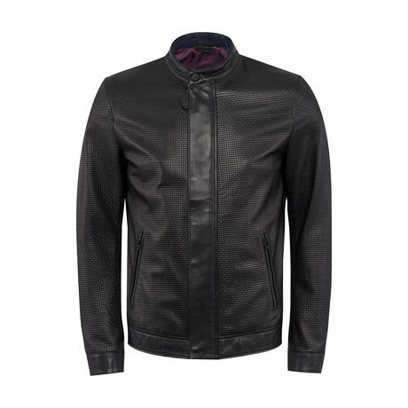 Stell Leather Jacket Slim Fit // Black (XS)