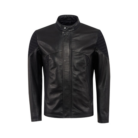 Gulliver Leather Jacket Regular Fit // Black (XS)