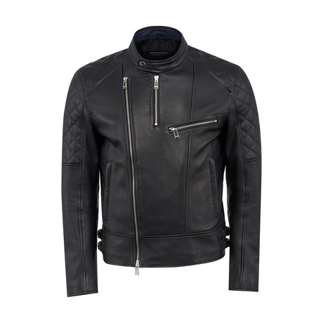 Odin Leather Jacket Regular Fit // Black (XS)