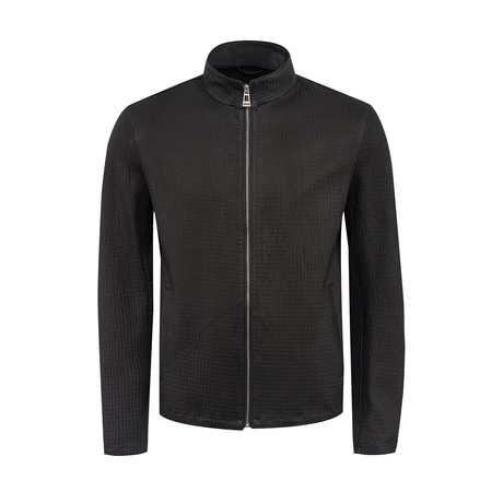 Edison Leather Jacket Slim Fit // Black (XS)